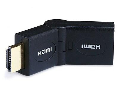 Monoprice® HDMI Male to Female Port Saver Swiveling Adapter, Black