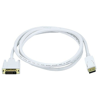 Monoprice 106015 6' DisplayPort to DVI Cable, White