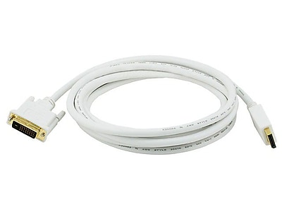 Monoprice 106016 10' DisplayPort to DVI Cable, White