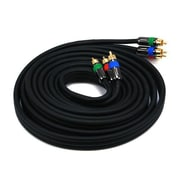 Monoprice® Premium 12' CL2 3-RCA Component 18AWG Video Coaxial Cable, Black