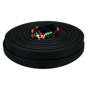 Monoprice® Premium 100' CL2 5-RCA Component 18AWG Video/Audio Coaxial Cable, Black