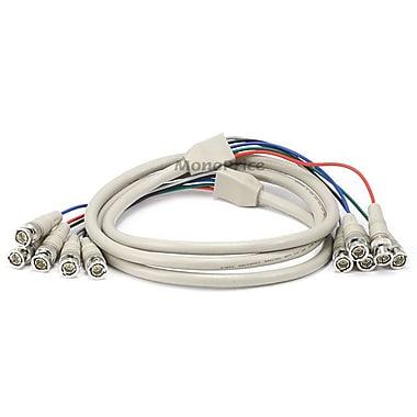 Monoprice® 6' 5 Pin BNC RGB to 5 Pin BNC RGB Video Cable, Beige
