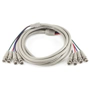 Monoprice® 10' 4 Pin BNC Male to Male Video Cable, Beige