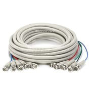 Monoprice® 25' 5 Pin BNC RGB to 5 Pin BNC RGB Video Cable, Beige