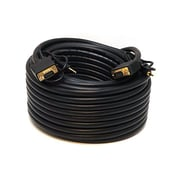 Monoprice® 75' CL2 Gold Plated Super VGA Male to Male Cable With Stereo Audio, Black