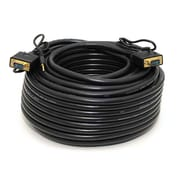 Monoprice® 100' Super VGA Male to Male Cable With Stereo Audio, Black