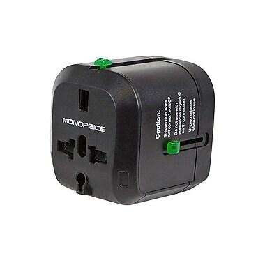 Monoprice® Compact Cube Universal Travel Adaptor, Black