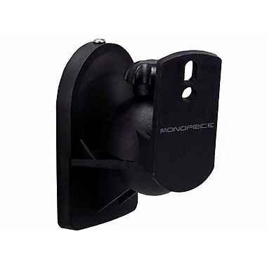 Monoprice® Adjustable Speaker Wall Mount Brackets Holds Up to 7.5 lbs.