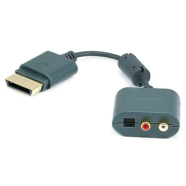 Monoprice® 107526 RCA/Toslink Audio Adapter For Xbox 360/Xbox 360 Slim