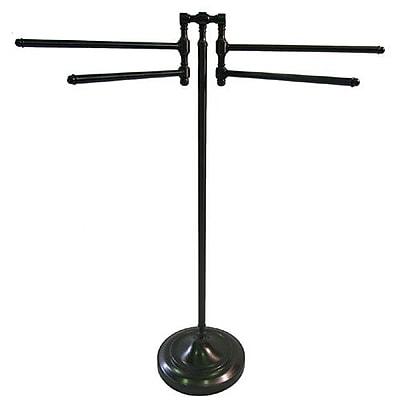 Allied Brass Universal Free Standing Towel Stand; Antique Bronze