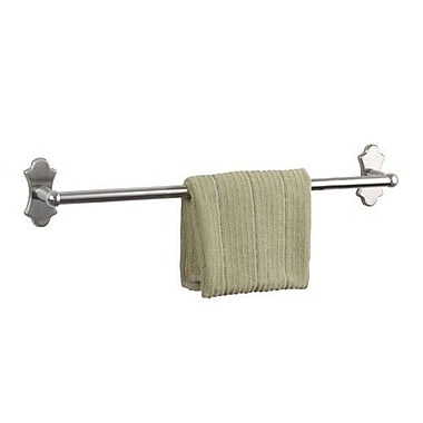 Dynasty Hardware Orleans Single 24'' Wall Mounted Towel Bar; Satin Nickel