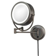 Kimball & Young Kimball & Young NeoModern LED Lighted Plug-in Wall Mirror; Italian Bronze