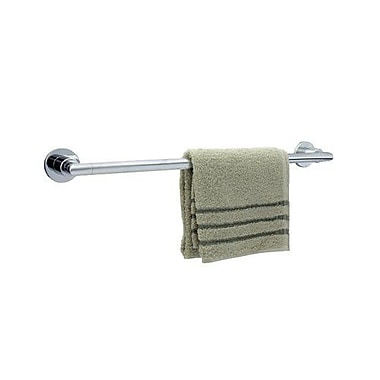 Dynasty Hardware Manhattan Single 24'' Wall Mounted Towel Bar; Polished Chrome