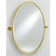 Afina Radiance Gear Tilt Mirror; Polished Brass