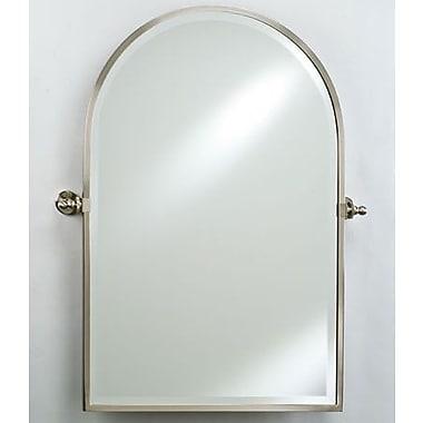 Afina Radiance Gear Tilt Arch Top Mirror; Satin Nickel