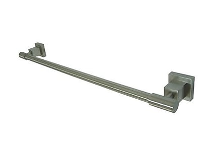 Elements of Design Claremont 24'' Wall Mounted Towel Bar; Satin Nickel