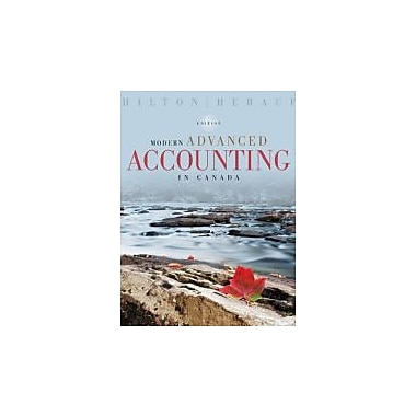 Modern Advanced Accounting in Canada, 6th Edition, Used Book (9780070001534)