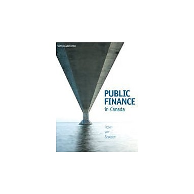 Public Finance in Canada, Used Book (9780070071834)