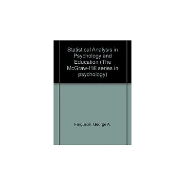 Statistical Analysis In Psychology and Education, 6th Edition, New Book (9780070204850)