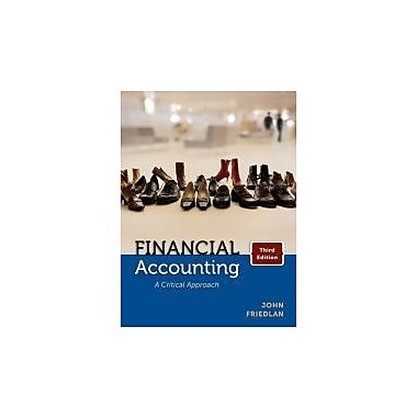 Financial Accounting: A Critical Approach, Third Edition, New Book (9780070967601)