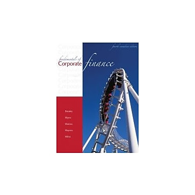 Fundamentals of Corporate Finance, 4th Canadian Edition, New Book (9780070984035)