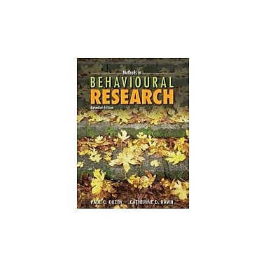 Methods in Behavioural Research [Paperback], New Book (9780071056731)