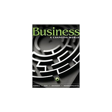 Business: A Changing World with Connect Access Card, Fourth Canadian Edition, New Book (9780071091367)