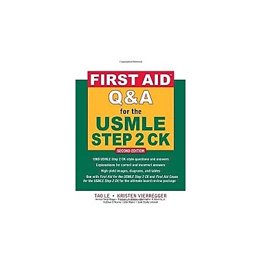 First Aid Q&A for the USMLE Step 2 CK, Second Edition (First Aid USMLE), Used Book (9780071625715)