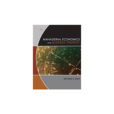 Managerial Economics & Business Strategy, Used Book (9780073375960)
