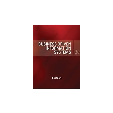 Business Driven Information Systems, New Book (9780073376820)