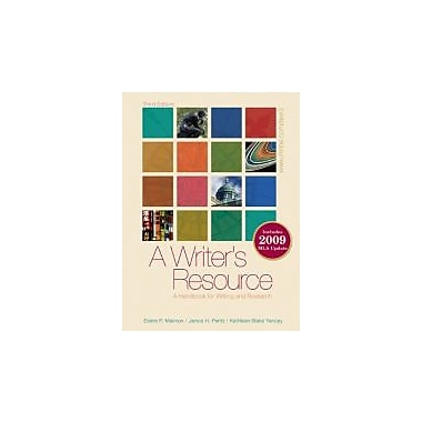 A Writer's Resource (comb-bound) 2009 MLA Update, Student Edition, New Book (9780073383774)