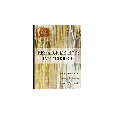 Research Methods In Psychology, 9th Edition, Used Book (9780078035180)
