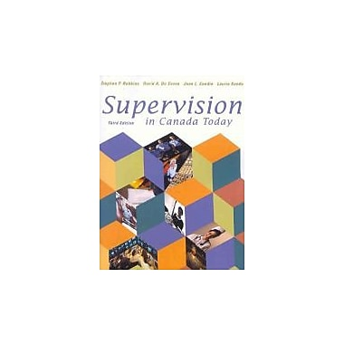 Supervision in Canada Today (3rd Edition), New Book (9780130286420)
