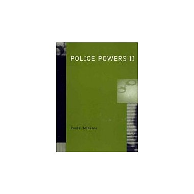 Police Powers II, New Book (9780130406972)