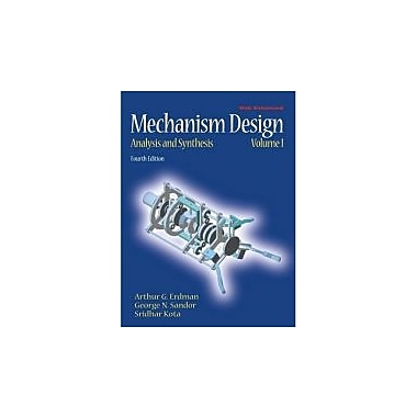 Mechanism Design: Analysis and Synthesis (4th Edition), New Book (9780130408723)