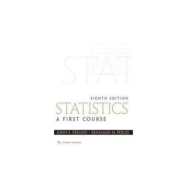 Statistics: A First Course (8th Edition), New Book (9780130466532)