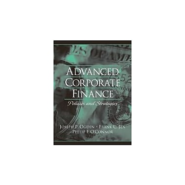 Advanced Corporate Finance, New Book (9780130915689)