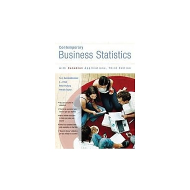 Contemporary Business Statistics with Canadian Applications, Third Canadian Edition (3rd Edition), New Book (9780131215818)