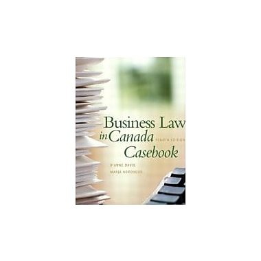 Business Law in Canada Casebook (4th Edition), New Book (9780131225701)