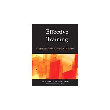 Effective Training, Canadian Edition, Used Book (9780131271753)
