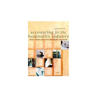 Accounting for the Hospitality Industry, Canadian Edition, New Book (9780131275935)