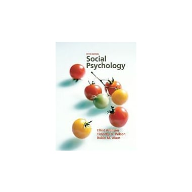 Social Psychology, New Book (9780131786868)