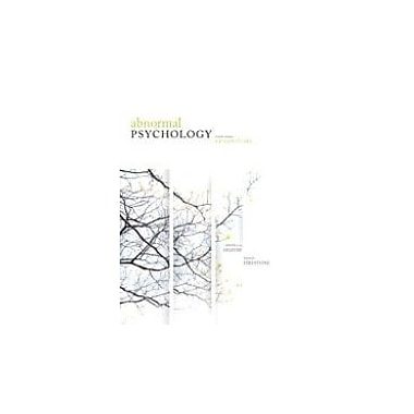 Abnormal Psychology Fourth Edition Perspectives