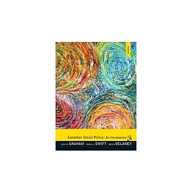 Canadian Social Policy: An Introduction (4th Edition), New Book (9780132310611)