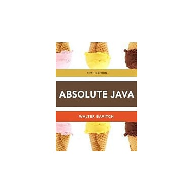 Absolute Java (5th Edition), Used Book (9780132830317)