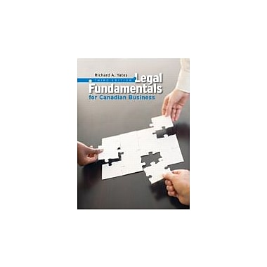 Legal Fundamentals for Canadian Business with MyBusLawLab (3rd Edition), Used Book (9780132910873)