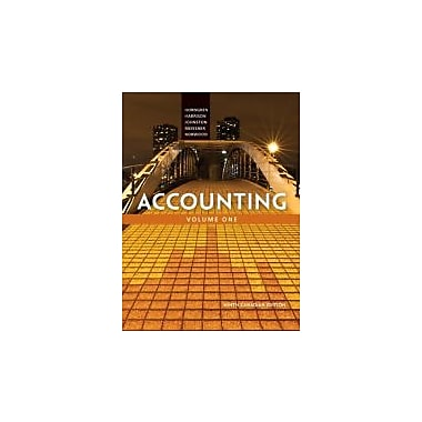 Accounting, Volume 1, Ninth Canadian Edition with MyAccountingLab (