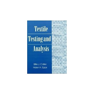 Textile Testing and Analysis, Used Book (9780134882147)
