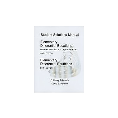 Student Solutions Manual for Elementary Differential Equations, Used Book (9780136006152)