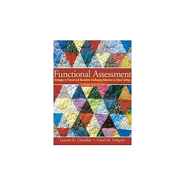 Functional Assessment: Strategies to Prevent & Remediate Challenging Behavior in School Settings, New (9780138126926)